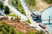 picture of albania  - Mangalem and modern part of Berat city in Albania - JPG