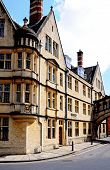 pic of skyway bridge  - Part of Hertford college which is attached to the other side of the street by the Bridge of Sighs along New College Lane Oxford Oxfordshire England UK Western Europe - JPG
