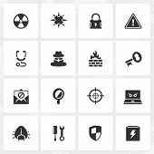 picture of antivirus  - Antivirus and security vector icons - JPG