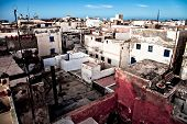 stock photo of asilah  - High viewpoint of the city of Assilah Morocco - JPG