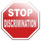 foto of racial discrimination  - stop discrimination equal rigths no homophobia or gender racism - JPG