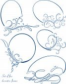 stock photo of oval  - Set of 5 decorative - JPG