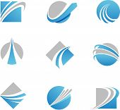 picture of  art  - abstract trail logos and icons - JPG
