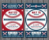 image of softball  - Set of vintage baseball labels and badges - JPG