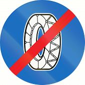 image of traffic rules  - Austrian traffic sign - JPG