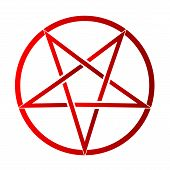 foto of pentagram  - The five pointed pentagram over a white background - JPG