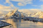 picture of reining  - Reine is a beautiful fishing village in Lofoten Islands - JPG