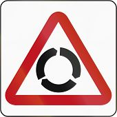 image of intersection  - Bruneian traffic warning sign - JPG