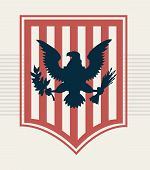 picture of shield  - blue eagle on red shield - JPG