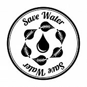 stock photo of save water  - save water over white background vector illustration - JPG