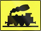 pic of railroad-sign  - An Additional traffic sign in Poland - JPG