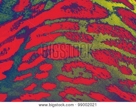 Red-blue-yellow gradiented leopard textile background