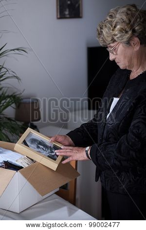 Elder Lady Being In Mourning