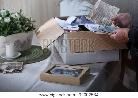 Packing Remembrances After Dead Husband