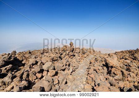 Volcanic landscape in Teide park Tenerife Canary Island Spain.