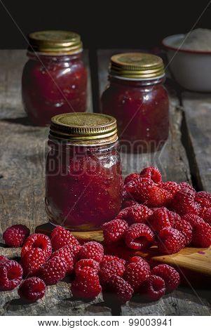 Fresh made Raspberry Jam