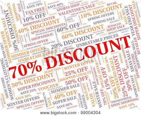 Seventy Percent Off Means Sales Save And Offers