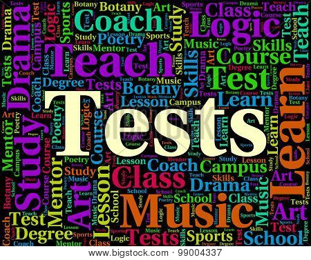 Tests Word Shows Assessment Examinations And Words