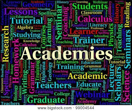 Academies Word Indicates Naval Academy And College