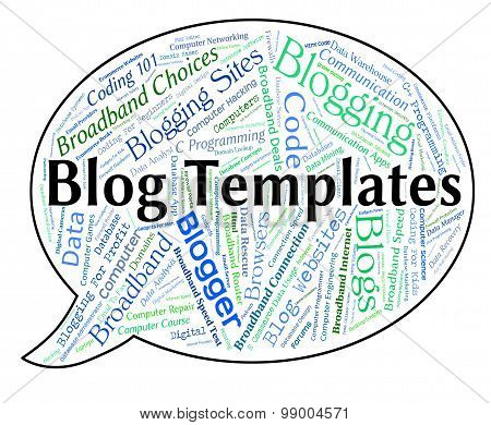 Blog Templates Shows Websites Words And Text