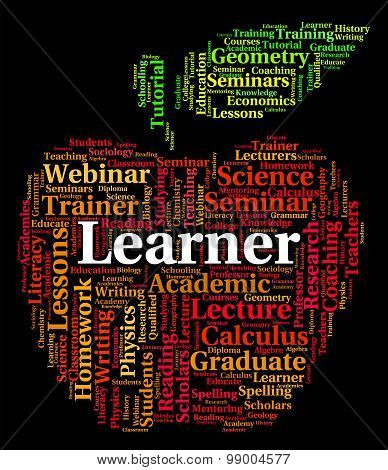 Learner Word Shows Study Studying And Education