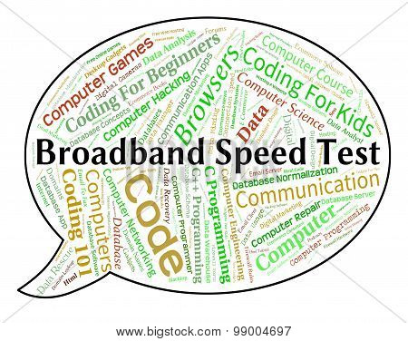 Broadband Speed Test Means World Wide Web And Assessment
