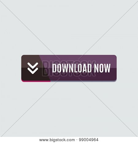 Colorful download web button with arrow. Modern flat design, paper graphic, website icon and design element