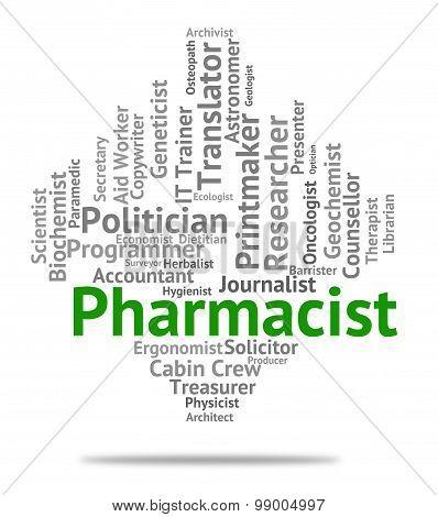 Pharmacist Job Represents Lab Technician And Career