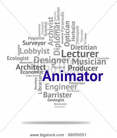 Animator Job Indicates Animators Career And Employment