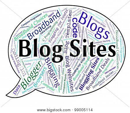 Blog Sites Shows Host Weblog And Domains