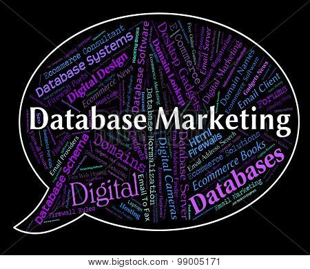 Database Marketing Represents Sales Words And Computing