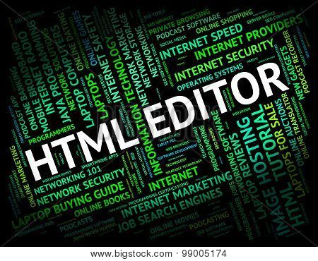 Html Editor Means Hypertext Markup Language And Boss