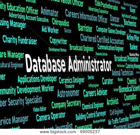 Database Administrator Means Words Work And Hire