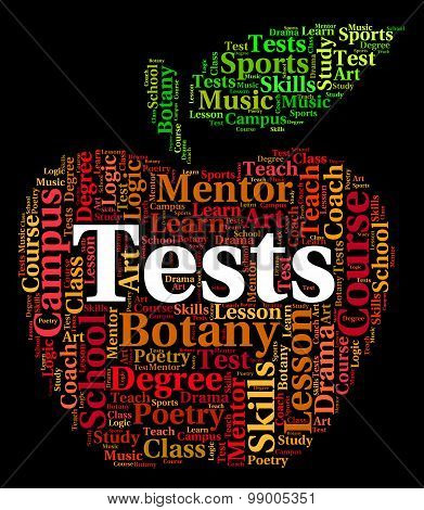 Tests Word Shows Assessment Tested And Testing