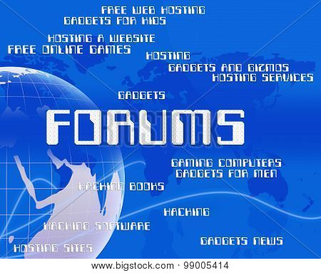 Forums Word Means Social Media And Chat
