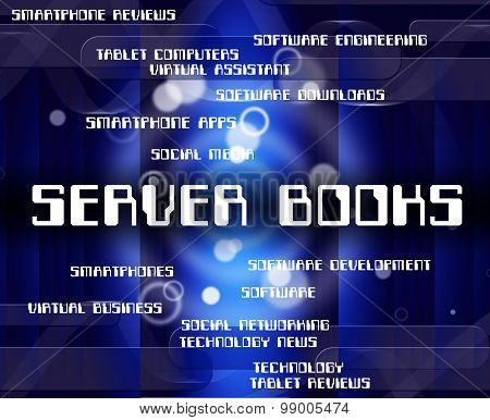 Server Books Means Computer Servers And Fiction