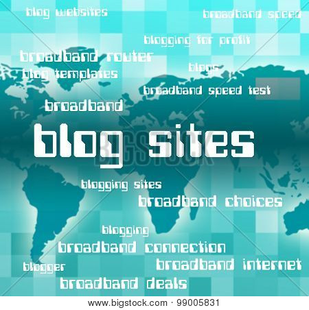 Blog Sites Represents Host Domain And Text