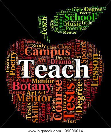 Teach Word Indicates Give Lessons And Coach