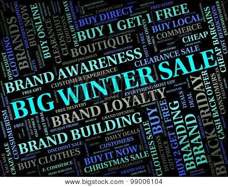 Big Winter Sale Shows Retail Season And Large