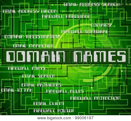 Domain Names Means Empire Label And Word