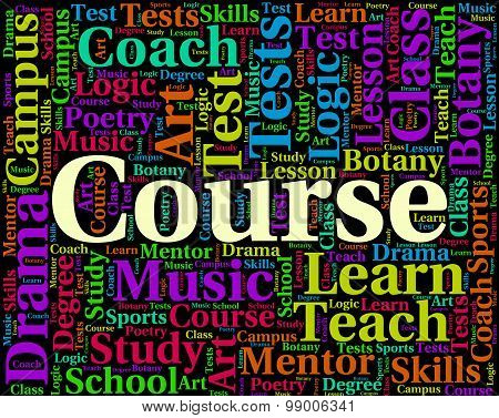 Course Word Shows Development University And Words