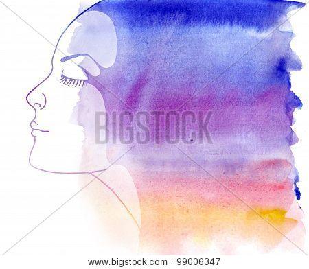 Rainbow portrait.