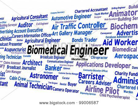 Biomedical Engineer Means Career Mechanic And Words