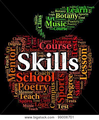 Skills Word Means Words Competencies And Text