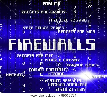 Firewalls Word Shows No Access And Defence