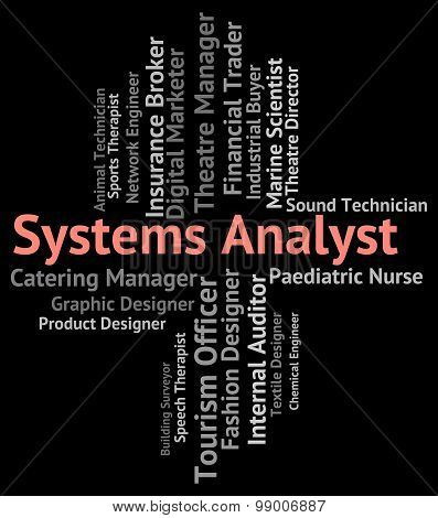 Systems Analyst Shows Analysers Analyser And Jobs