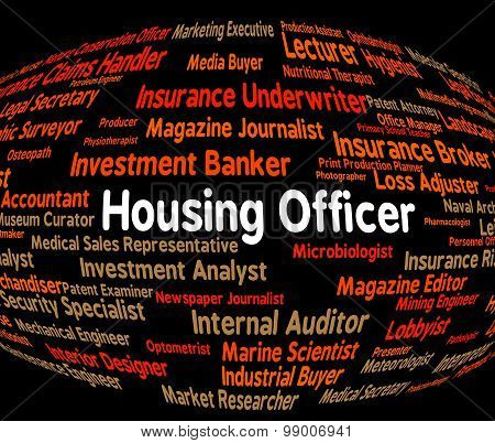 Housing Officer Indicates Recruitment Habitation And Job