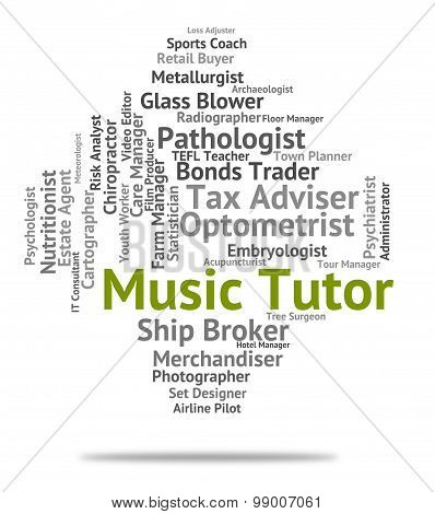 Music Tutor Indicates Sound Track And Audio