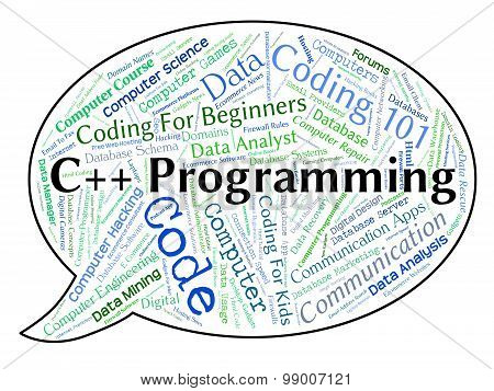C++ Programming Indicates Software Development And Application