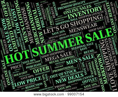 Hot Summer Sale Indicates Midsummer Clearance And Savings